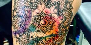 Mandala estilo Acuarelas por Manu Terzo Occhio