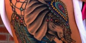 Atrapasueños y Elefante hindú