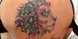 León estilo Acuarelas por Javi Wolf