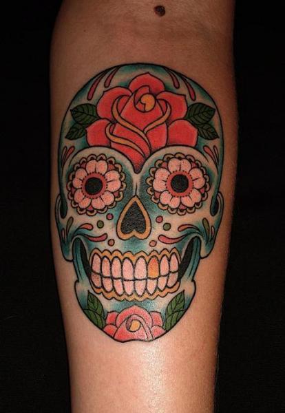 Calavera Mexicana - Tatuajes para Mujeres