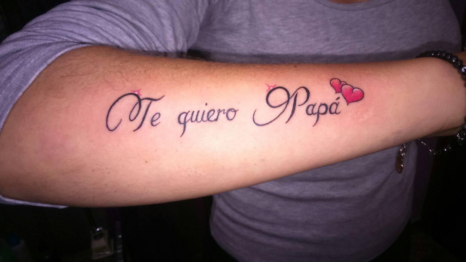 Frase Te Quiero Papá Tatuajes Para Mujeres