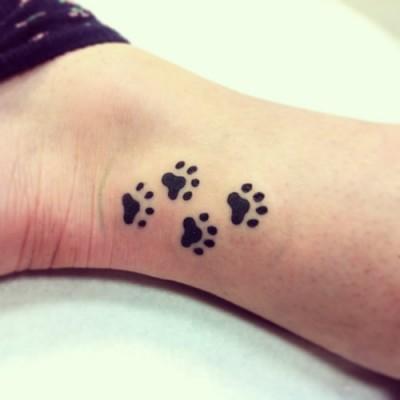 Huellas De Perro Tatuajes Para Mujeres