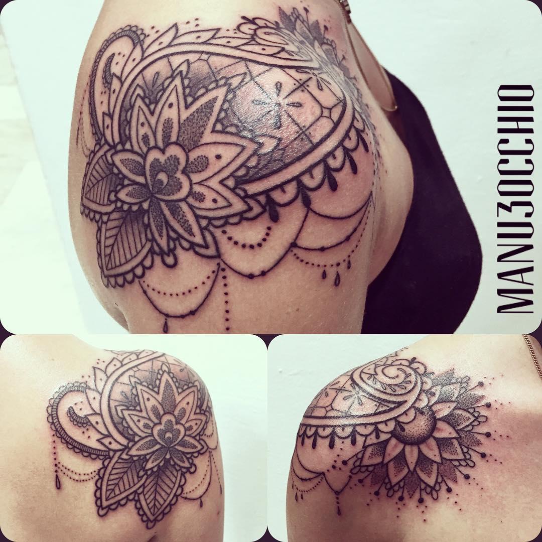 Paisley Y Flor De Loto Por Manu Terzo Occhio Tatuajes Para Mujeres