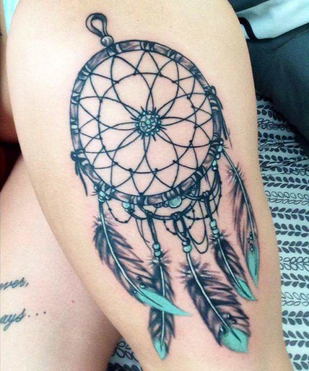 Atrapasueños Con Plumas Turquesa Tatuajes Para Mujeres