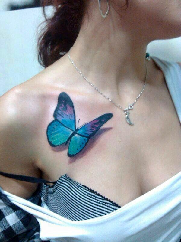 Mariposa Estilo 3d Tatuajes Para Mujeres