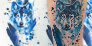 Lobo estilo Acuarelas