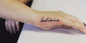Frase: Believe