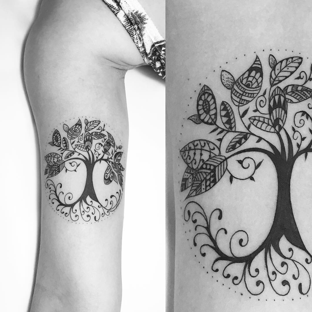 árbol De La Vida Por Carlos Eduardo Tatuajes Para Mujeres