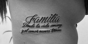 Frase: Familia, donde la vida comienza y el amor nunca termina