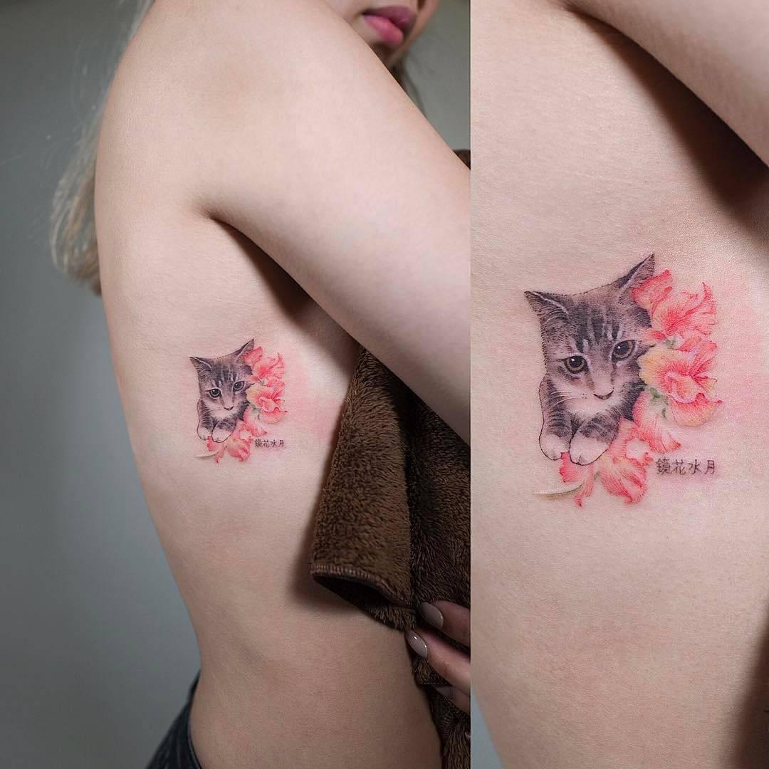 Tatuajes Gatos Para Mujeres gato - tatuajes para mujeres