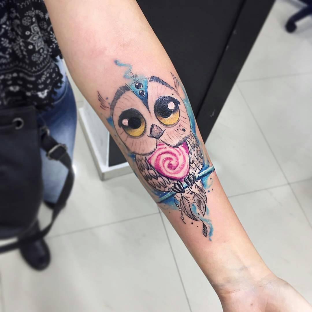 Búho Tatuajes Para Mujeres