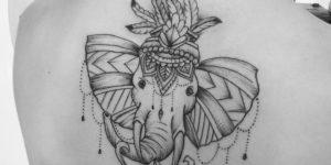 Elefante y Flor de Loto