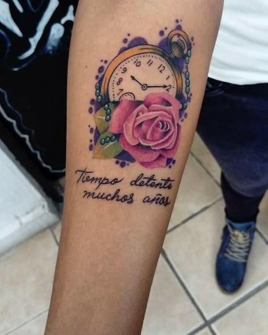 Reloj Tatuajes Para Mujeres