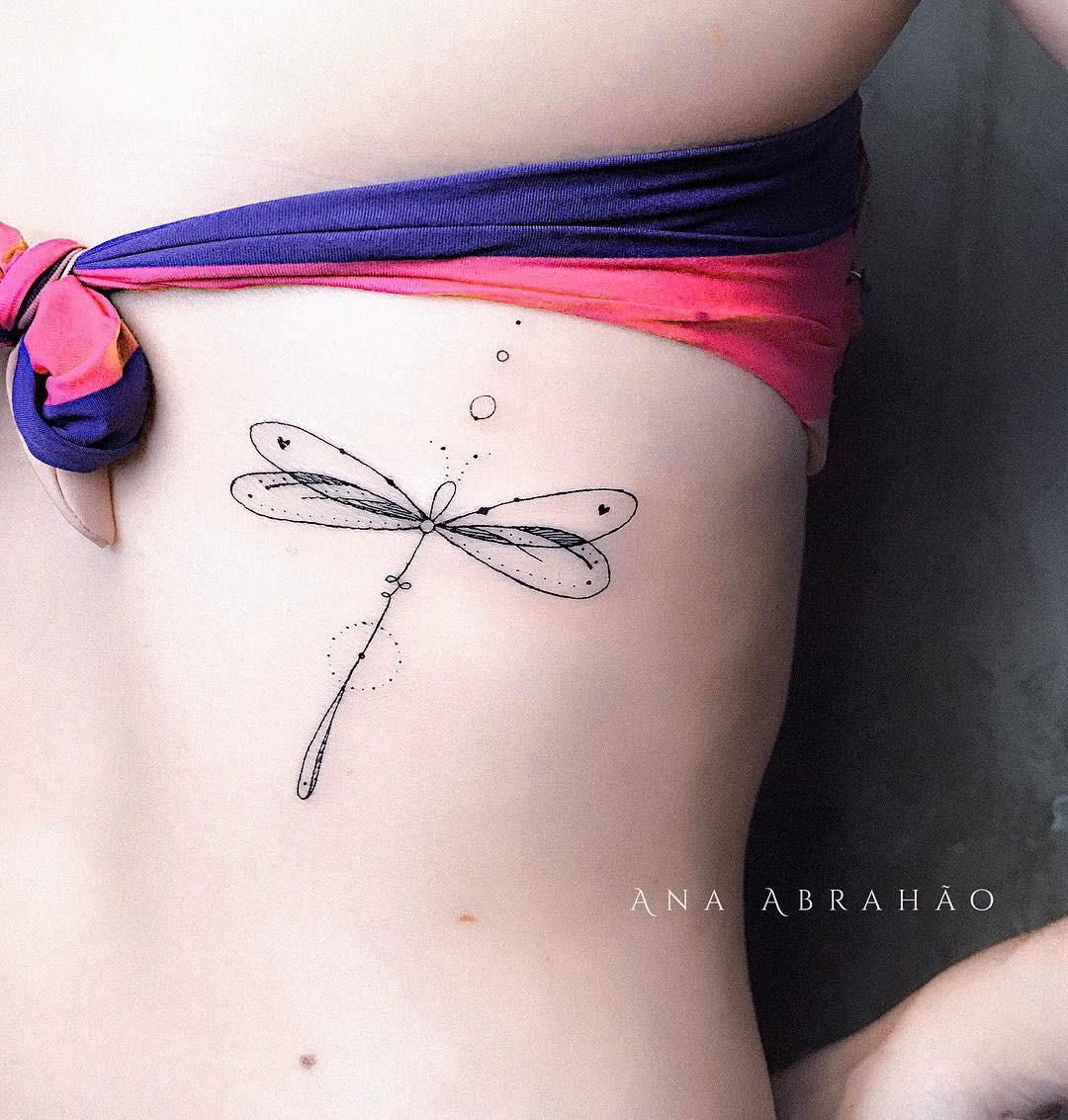 Libélula Por Ana Abrahao Tatuajes Para Mujeres