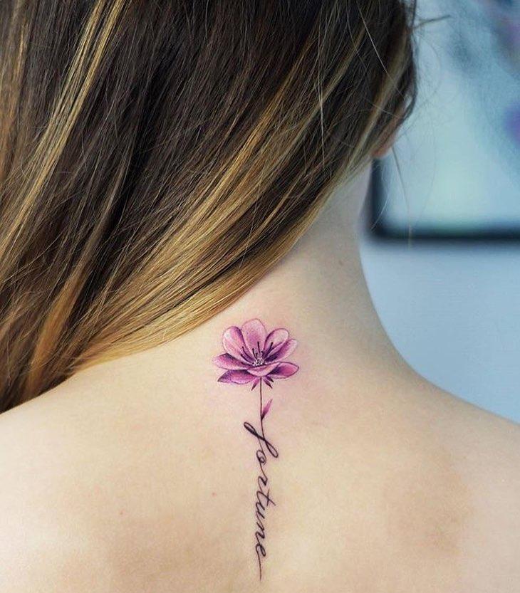 Nuca Tatuajes Para Mujeres