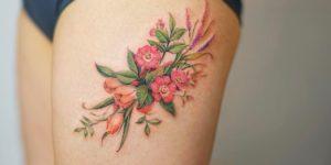 Flores por Nando Tattoo