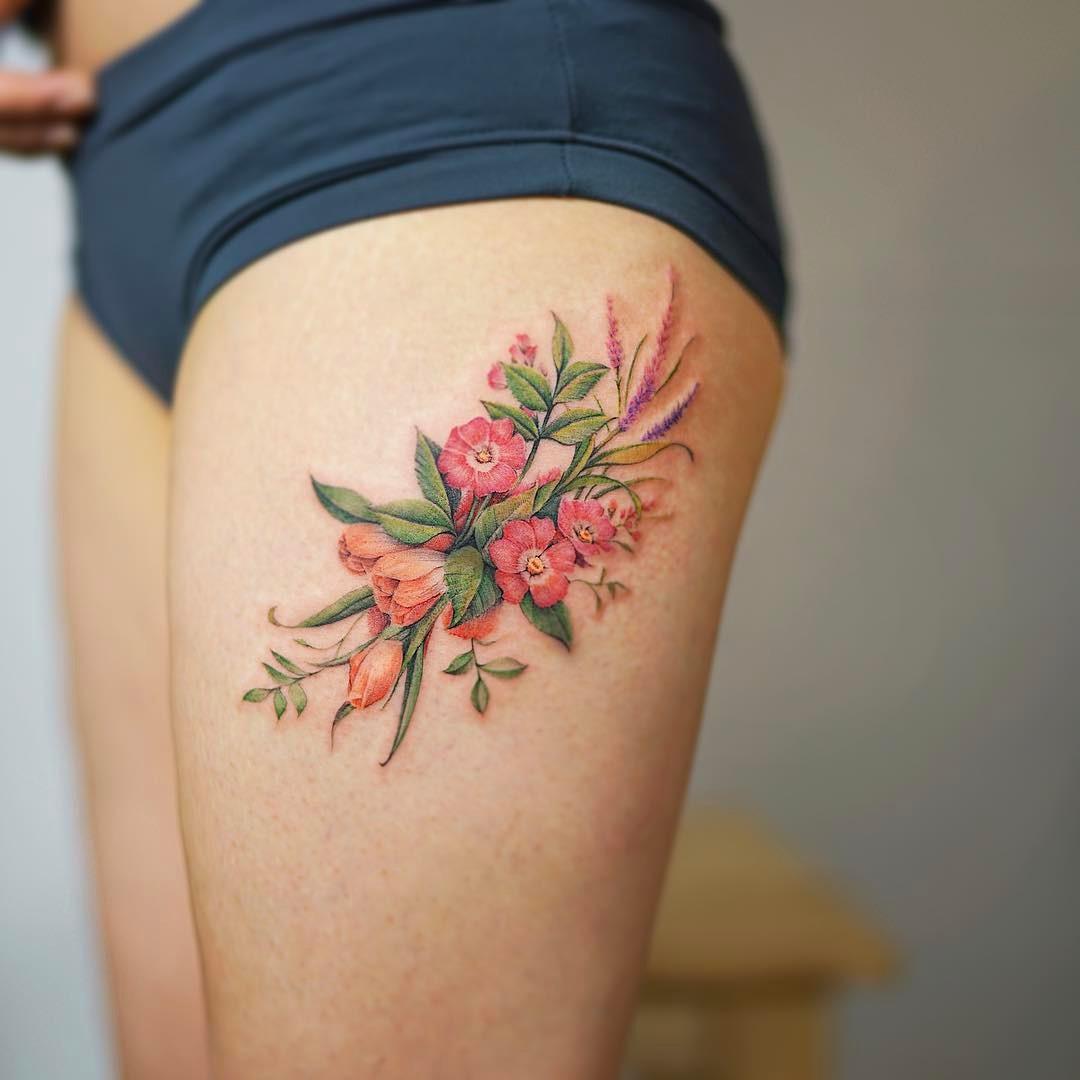 flores por nando tattoo tatuajes para mujeres