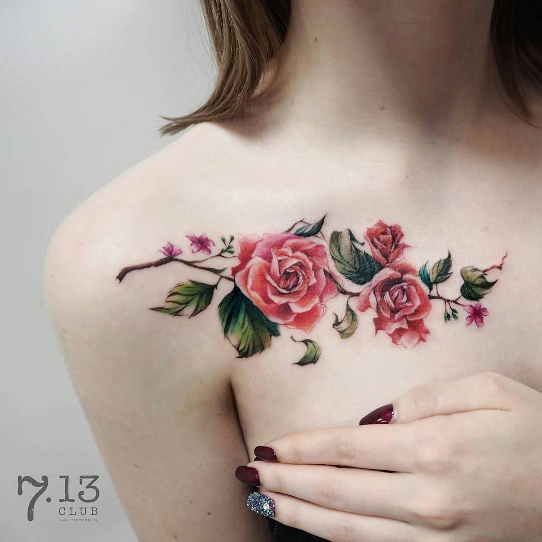 Flores Estilo Enredadera Tatuajes Para Mujeres