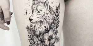 Lobo, Flores y Luna