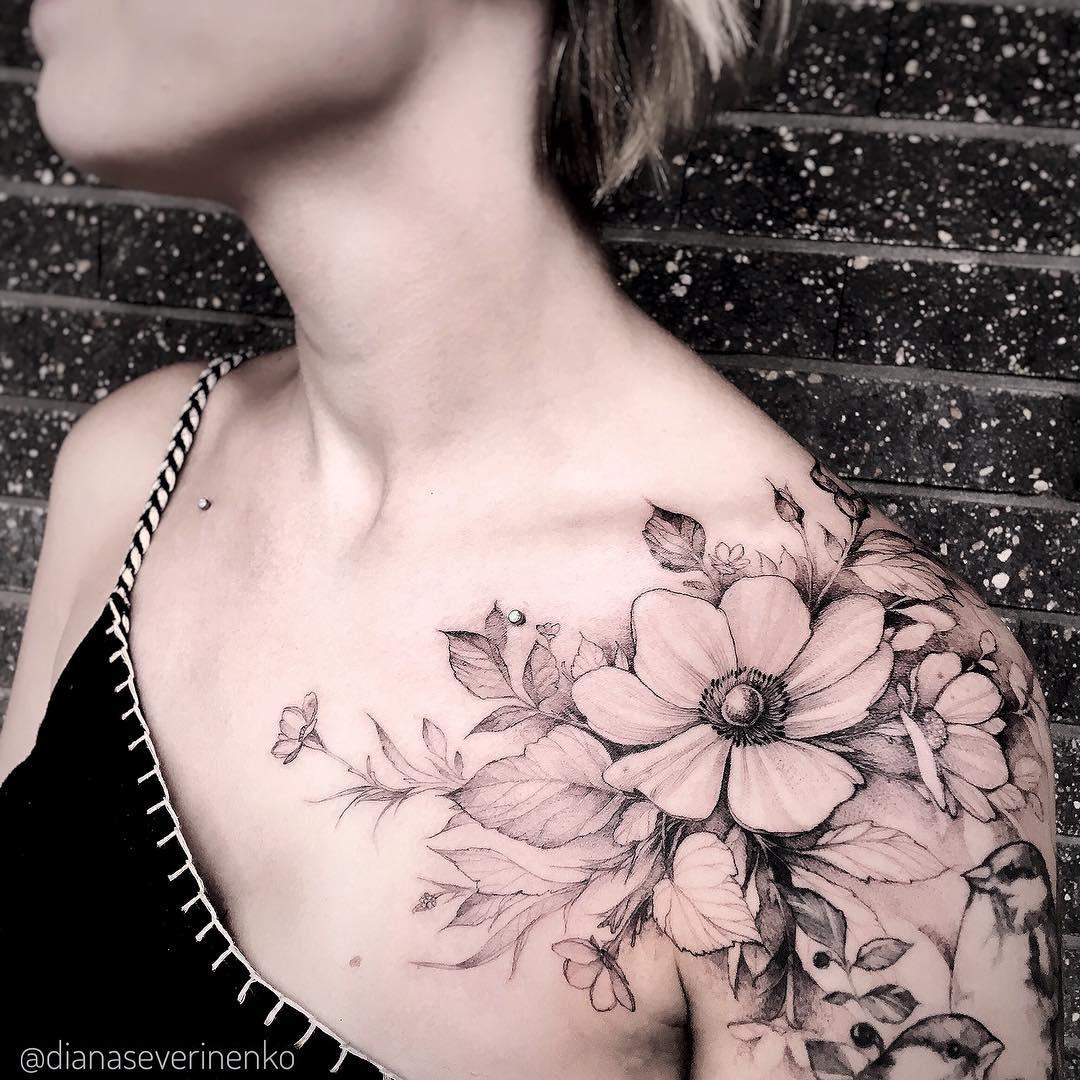 Enredadera De Flores Tatuajes Para Mujeres