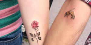 Flor y Abeja para enamorados