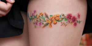 Flores liga por graffittoo tattoo studio