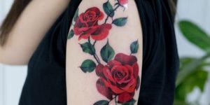 Flores Rosas Rojas