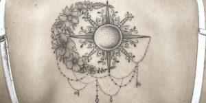 Luna y Sol geométricos