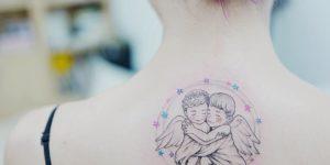 Angelitos abrazados por Banul 타투이스트 바늘