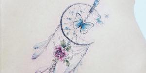 Atrapasueños y mariposa por Banul 타투이스트 바늘