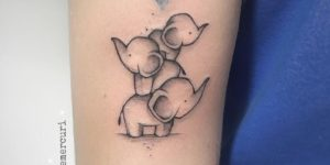 Familia de elefantes por Michele Mercuri