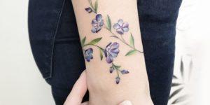 Enredadera de Flores violeta