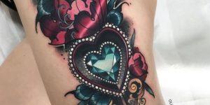 Flor y Corazón de Diamante por Olie Siiz