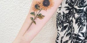 Girasoles por Miss Jess Tattoos