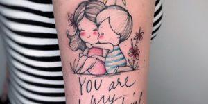 Amor entre madre e hijo por Michele Mercuri