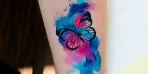 Mariposa estilo acuarelas por Zelenska Kateryna