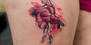 Bailarina estilo acuarelas por Zelenska Kateryna