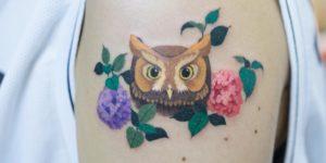 Búho por Zihee Tattoo
