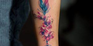 Flecha con flores de cerezo por Zelenska Kateryna
