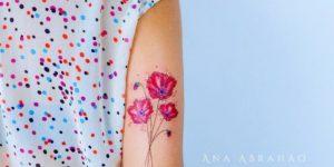 Flores de amapolas por Ana Abrahão