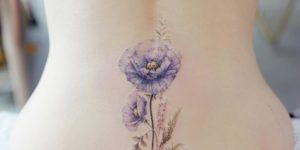 Flores violetas por Banul 타투이스트 바늘