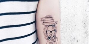 Mujer nerd amante de los libros por Luiza Oliveira