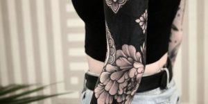 Manga completa de flores y mandalas