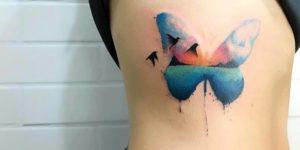 Mariposa estilo acuarelas por LCJunior tattoo