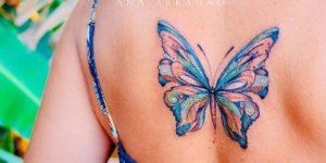 Mariposa alas azules por Ana Abrahão