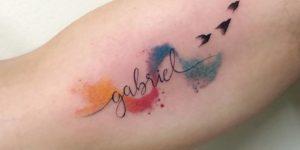 Nombre: Gabriel y Aves por LCjunior Tattoo
