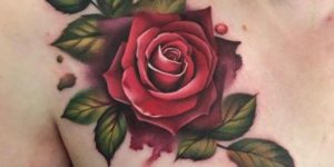 Rosa roja realista en 3d