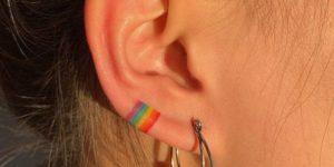 Aro con los colores del arcoiris