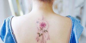 Atrapasueños y flor rosa por Banul 타투이스트 바늘