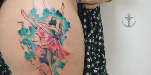 Bailarina estilo acuarelas por Felipe Bernardes